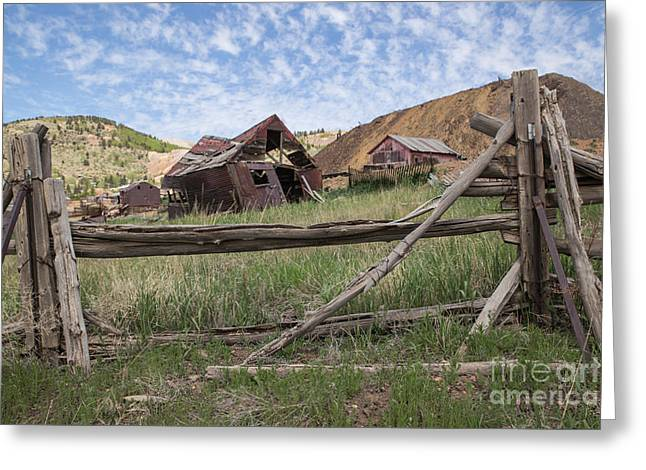 Shack Greeting Cards - Mining in Victor Greeting Card by Lynn Sprowl
