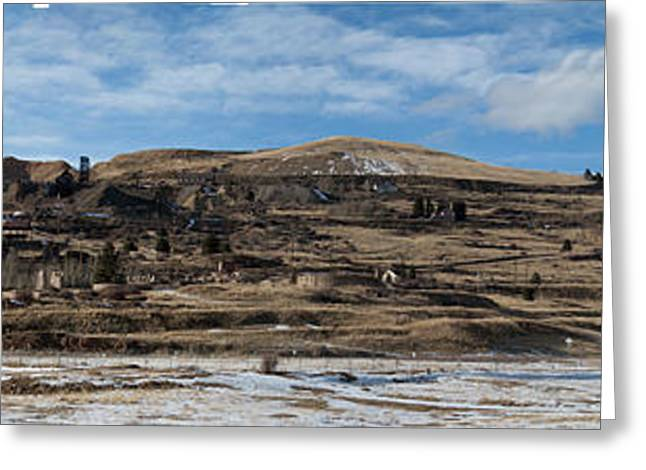 Mining Town Panorama Greeting Card by ANGUS HOOPER III