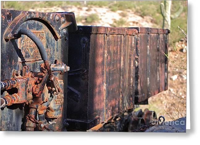 Mining Photos Greeting Cards - Mining Train Greeting Card by Donna Van Vlack