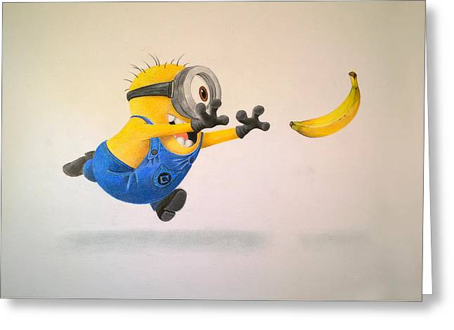 Despicable Me Greeting Cards - Minion Greeting Card by Roberta  Faggin - Obibi