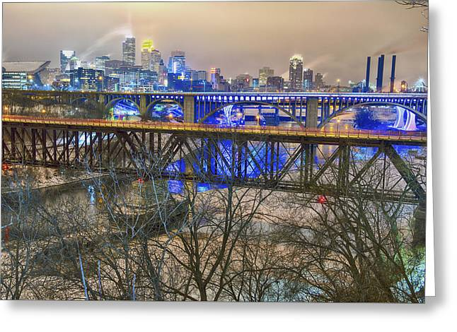 Minneapolis Bridges Greeting Card by Craig Voth