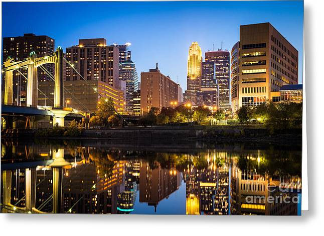 Minneapolis Reflections On The Mississippi Greeting Card by Ernesto Ruiz