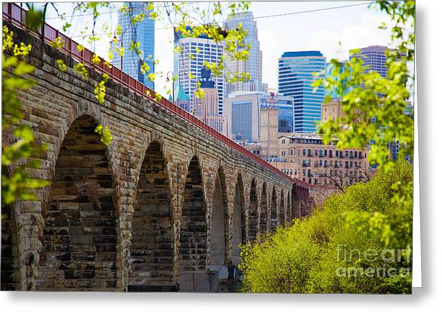 Artist Photographs Greeting Cards - Minneapolis Stone Arch Bridge Photography Seiminar Greeting Card by Wayne Moran