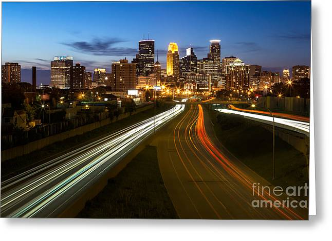 Id Greeting Cards - Minneapolis Taillight River Greeting Card by Ernesto Ruiz