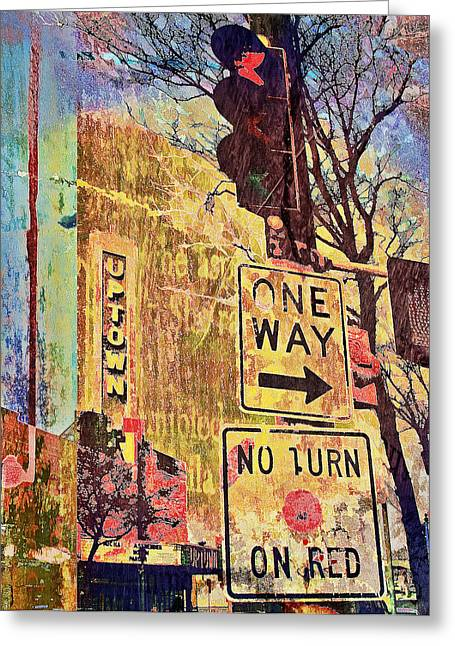 Enhanced Greeting Cards - Minneapolis Uptown Energy Greeting Card by Susan Stone