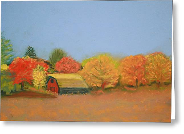 Rural Landscapes Pastels Greeting Cards - Minnesota Barn 1 Greeting Card by Mary Ellen Carver