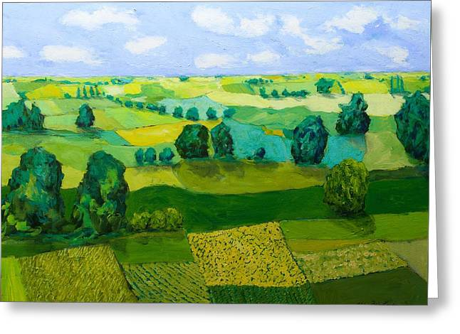 Impressionist Greeting Cards - Minnesota Fields Greeting Card by Allan P Friedlander