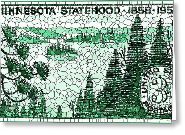 Philatelist Greeting Cards - Minnesota Statehood Centennial Greeting Card by Lanjee Chee