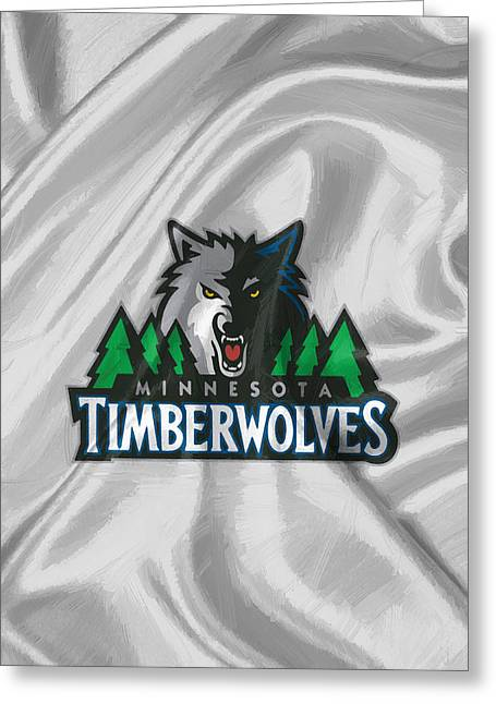 Minnesota Timberwolves Greeting Card by Afterdarkness