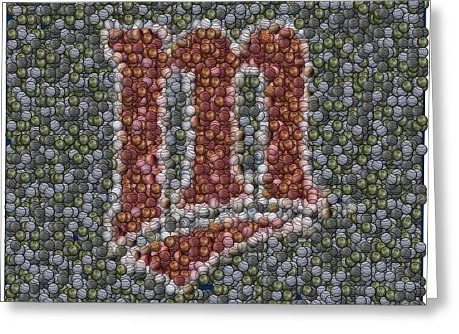 Minnesota Twins Baseball Mosaic Greeting Card by Paul Van Scott