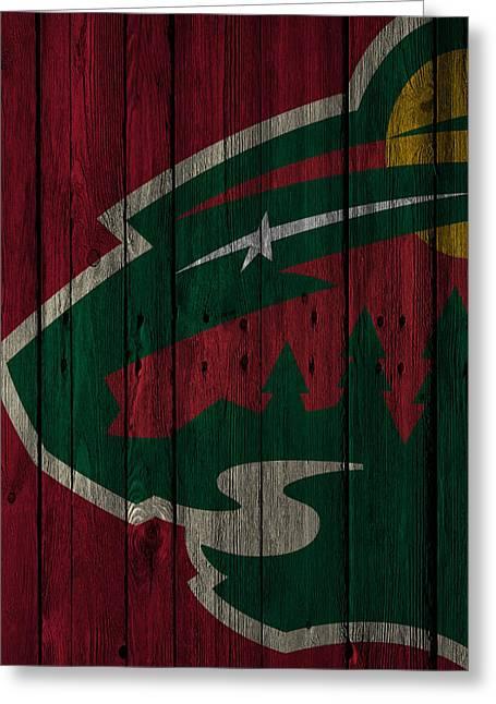 Minnesota Wild Wood Fence Greeting Card by Joe Hamilton