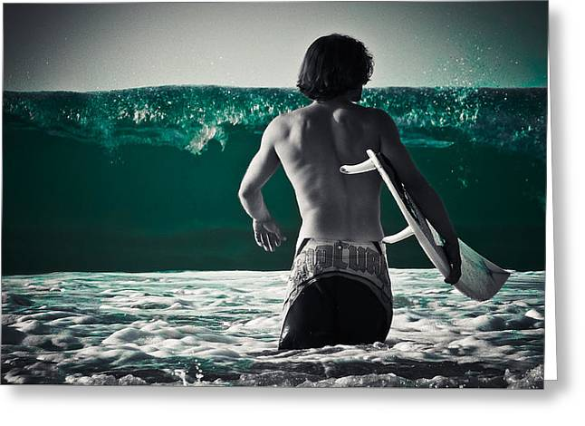 Surfing Photos Greeting Cards - Mint Surf Greeting Card by Loriental Photography