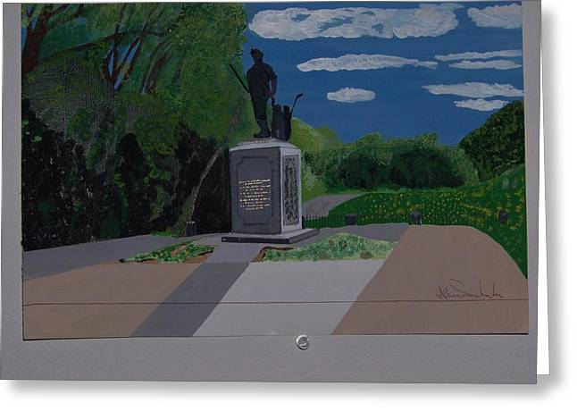 Concord Ma. Greeting Cards - Minuteman Memorial Greeting Card by William Demboski