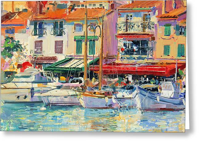 Masts Greeting Cards - Mirabeau Greeting Card by Peter Graham