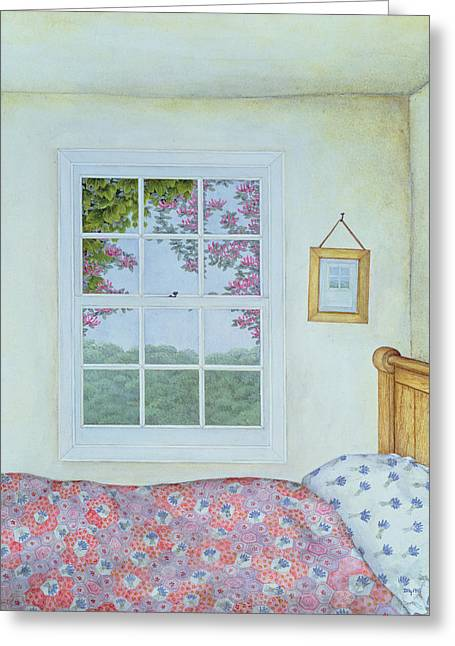 Room With A View Greeting Cards - Miriams Room Greeting Card by Ditz