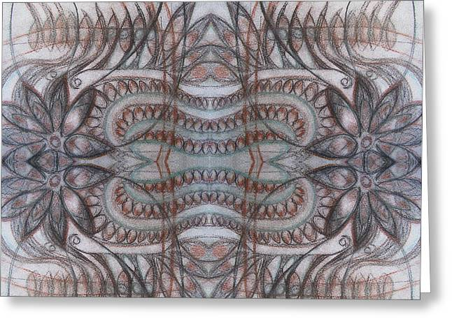 Abstract Digital Drawings Greeting Cards - Mirror image Greeting Card by Ariela