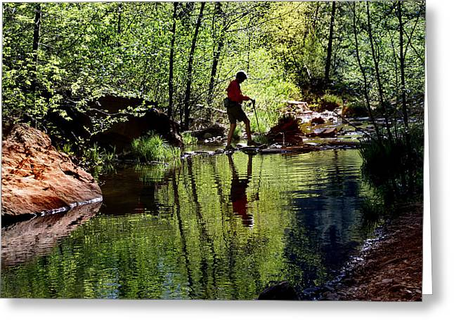 West Fork Greeting Cards - Mirror Image Greeting Card by Martin Massari