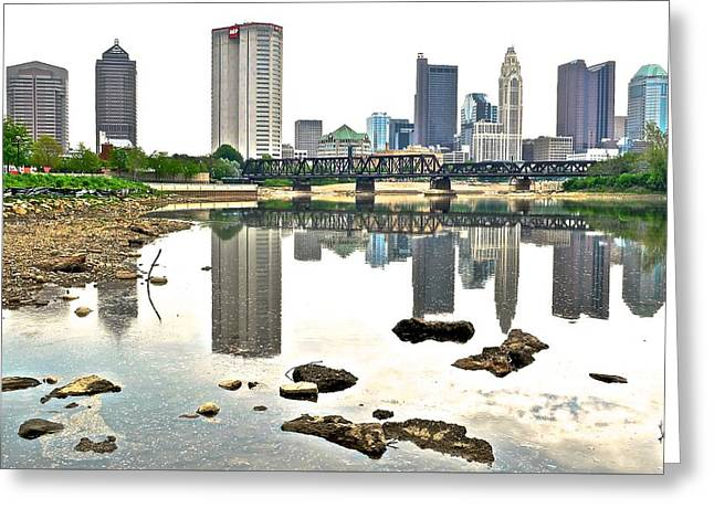 Reflecting Water Greeting Cards - Mirror Mirror on The River Greeting Card by Frozen in Time Fine Art Photography