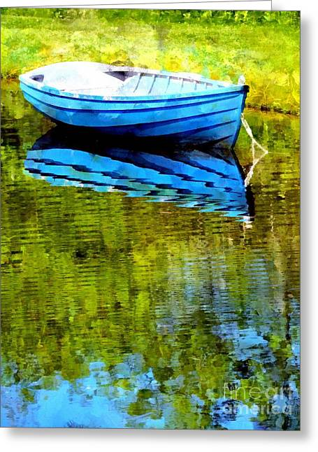 Maine Spring Greeting Cards - Mirror Pond 2 Greeting Card by Helene Guertin