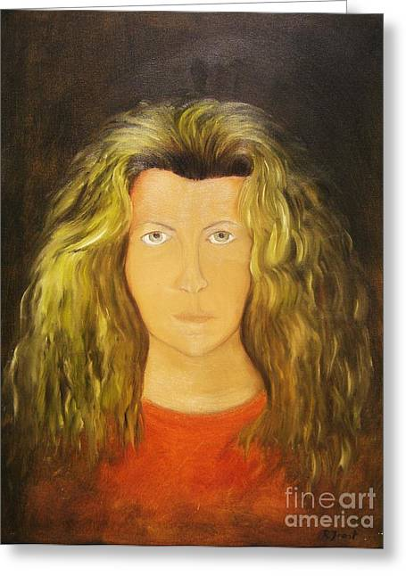 Protrait Greeting Cards - Mirror Greeting Card by Reb Frost