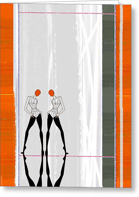 Fashions Greeting Cards - Mirror Reflections Greeting Card by Naxart Studio