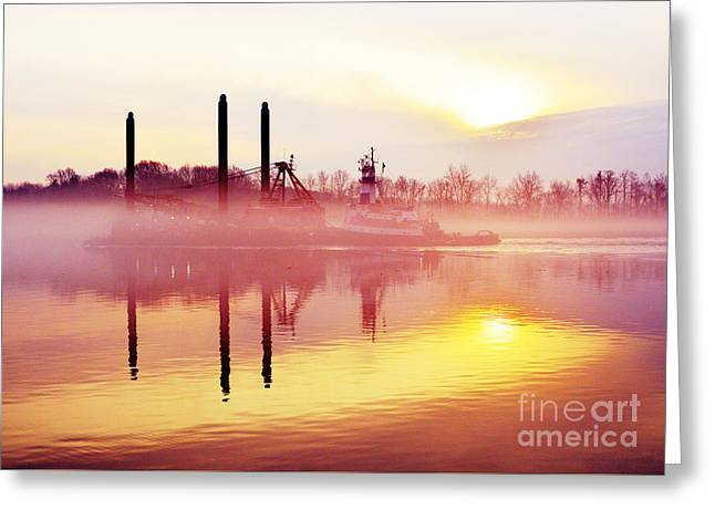Mirrors - Delaware River Series Greeting Card by Robyn King