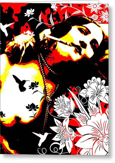 Bird Pin Greeting Cards - Mischievious Hummingbird Greeting Card by Chris Andruskiewicz