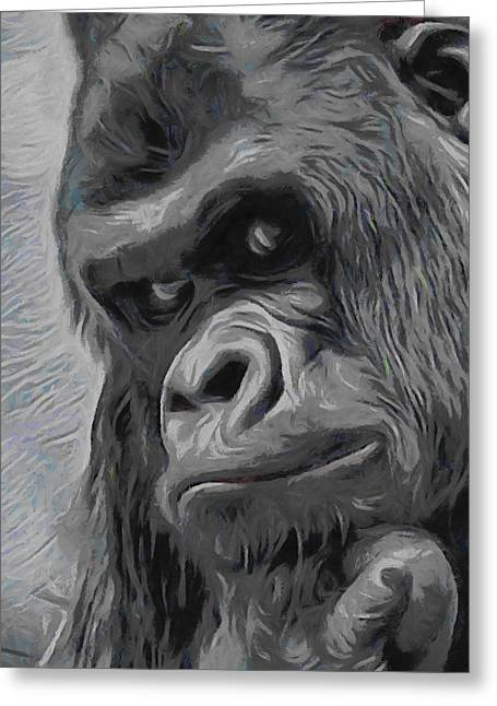 Mischievous Thoughts  Greeting Card by Ernie Echols