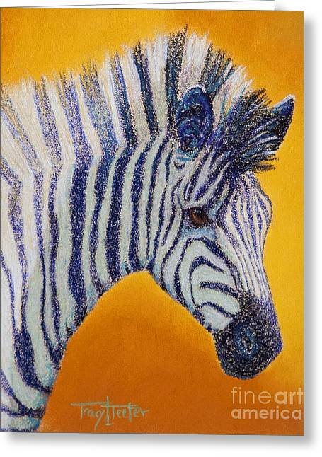 Stripes Pastels Greeting Cards - Miss D Greeting Card by Tracy L Teeter