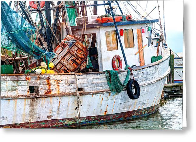 Scott Hansen Greeting Cards - Miss Hale Shrimp Boat - Side Greeting Card by Scott Hansen
