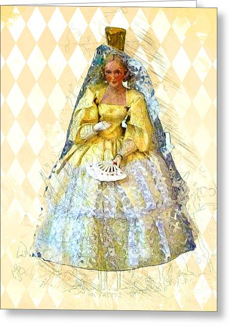 Ball Gown Greeting Cards - Miss Havisham Greeting Card by Methune Hively