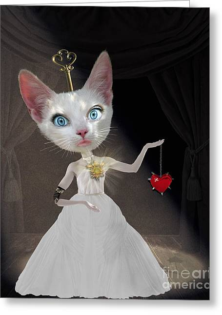 Vintage Key Greeting Cards - Miss Lonely Heart Greeting Card by Juli Scalzi