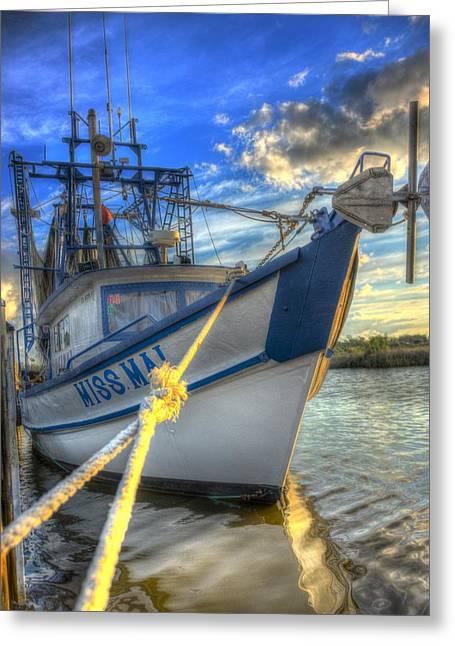 Sailboat Art Greeting Cards - Miss Mai 02 Greeting Card by Mark Hazelton