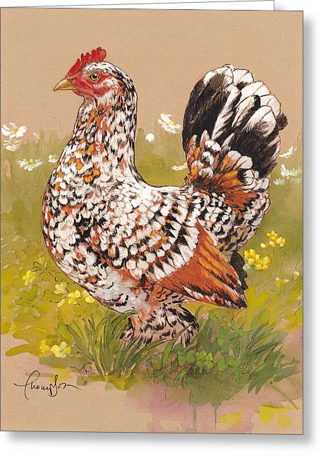 Barnyard Greeting Cards - Miss Millie Fleur Greeting Card by Tracie Thompson