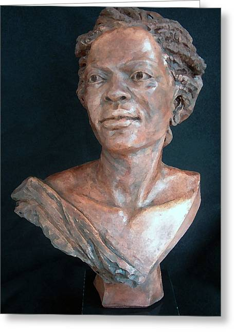 Power Sculptures Greeting Cards - Miss Rosa Greeting Card by Wayne Headley