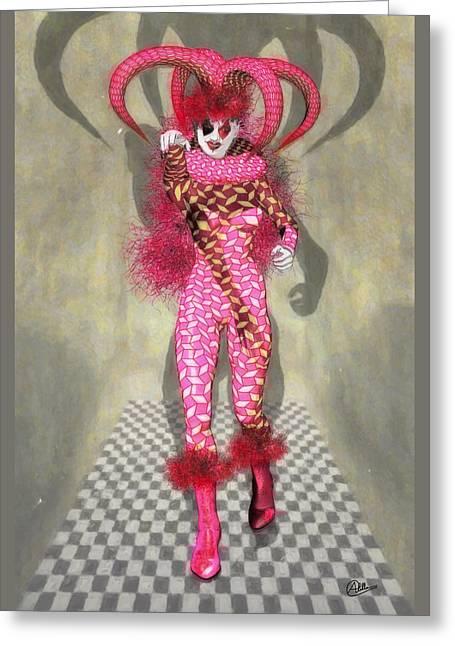 Miss Scarlet Greeting Card by Quim Abella