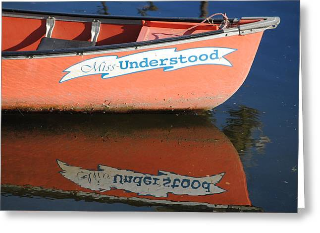 Canoe Greeting Cards - Miss Understood Greeting Card by Tricia Maguire