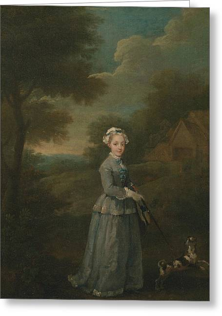 Miss Wood Greeting Card by William Hogarth