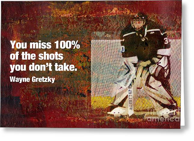 Wayne Gretzky Greeting Cards - Missed Shots Greeting Card by John Turek