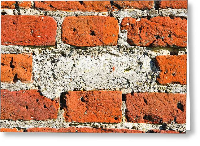 Missing Brick Greeting Card by Tom Gowanlock