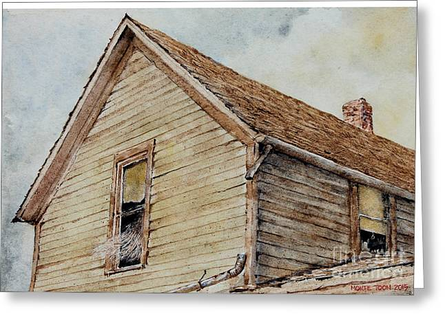 Open Window Paintings Greeting Cards - Missing Greeting Card by Monte Toon