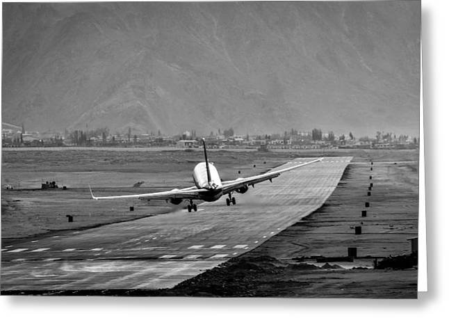 Landing Airplane Greeting Cards - Missing The Runway Greeting Card by Krishnaraj Palaniswamy