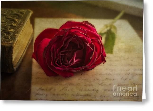 Love Letter Mixed Media Greeting Cards - Missing You Greeting Card by Terry Rowe