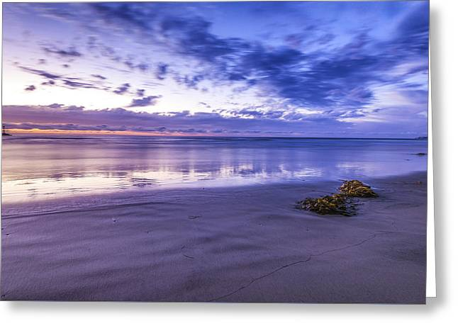 Beach Photography Greeting Cards - Mission Beach Dusk Greeting Card by Joseph S Giacalone
