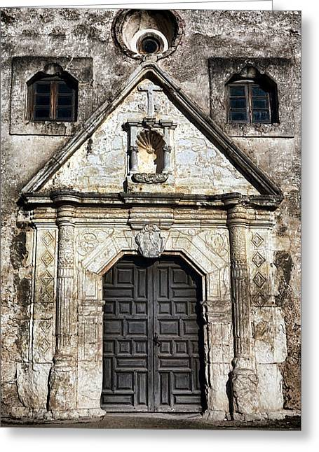 Mission Concepcion Front Greeting Card by Stephen Stookey