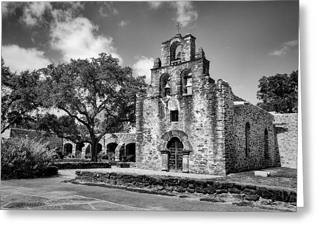 Entrance Door Greeting Cards - Mission Espada #1 Greeting Card by Stephen Stookey