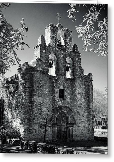 Stones Greeting Cards - Mission Espada -- Infrared Greeting Card by Stephen Stookey