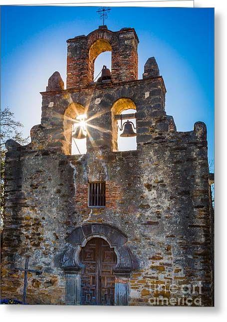 Mission Espada Greeting Card by Inge Johnsson