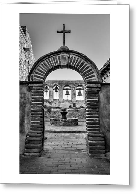 Mission Gate And Bells #3 Greeting Card by Stephen Stookey