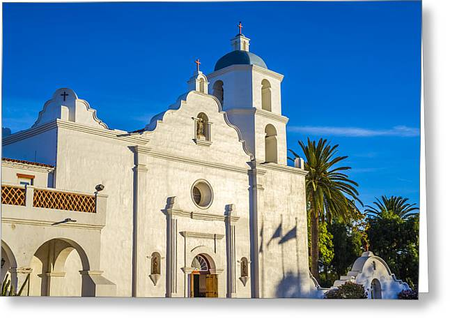 Historic Site Greeting Cards - Mission Morning Greeting Card by Joseph S Giacalone